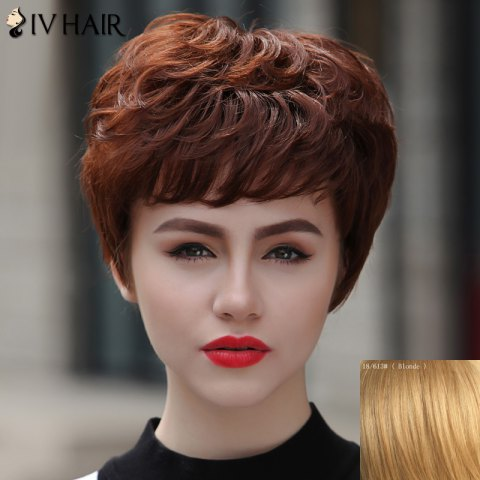 Shop Women's Stylish Human Hair Siv Hair Short Curly Wig