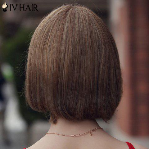 Outfits Trendy Human Hair Siv Hair Short Bobo Style Women's Wig - LIGHT CHOCOLATE  Mobile