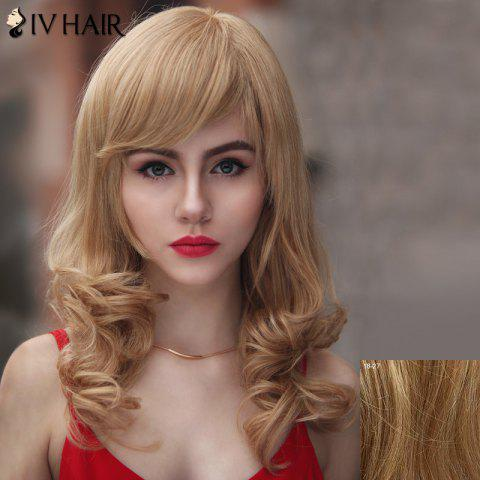 Discount Trendy Siv Hair Side Bang Curly Human Hair Women's Wig