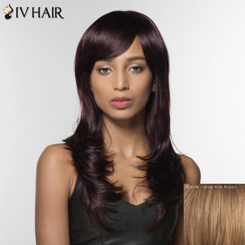 Online Trendy Siv Hair Long Curly Human Hair Women's Wig