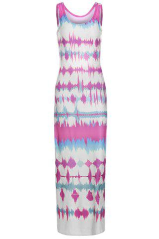 Outfits Sexy U Neck Sleeveless Tie Dye Hollow Out Women's Sundress