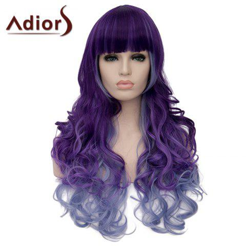 Chic Adiors Long Curly Full Bang Heat Resistant Synthetic Wig For Women