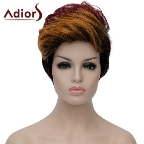 Outfits Bouffant Wave Short Capless Stylish Multicolor Highlight Synthetic Adiors Bump Wig For Women