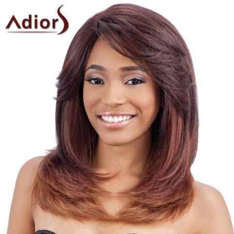 Fashion Fashion Long Layered Capless Elegant Straight Tail Adduction Synthetic Adiors Wig For Women