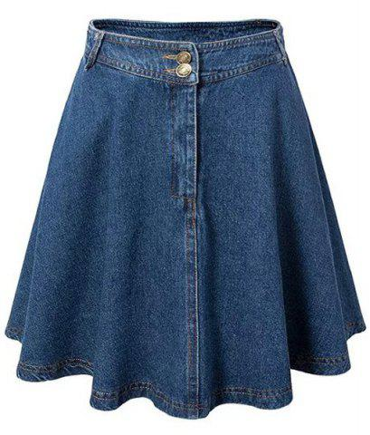 Shops Endearing High Waist Denim Skirt For Women