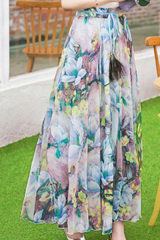 Latest Floral Print Maxi Convertible Skirt