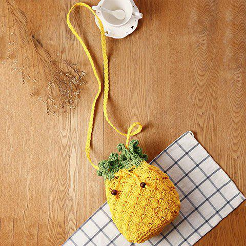 Buy Cute Pineapple Shape and String Design Crossbody Bag For Women - YELLOW  Mobile
