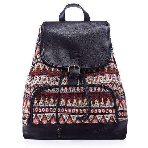 Shop Casual Jacquard and Buckle Design Satchel For Women