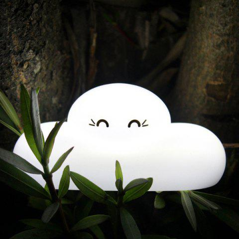 Outfits Fashion Bedside Lamp Cartoon Cloud Shape Touch Sensing LED Night Light - WHITE  Mobile