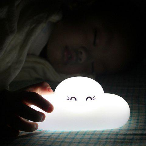 Fancy Fashion Bedside Lamp Cartoon Cloud Shape Touch Sensing LED Night Light - WHITE  Mobile