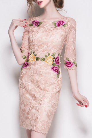 Online Embroidered Half Sleeve Dress