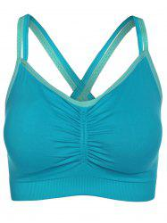 Stylish Cross Back Sport Bra For Women - BLUE