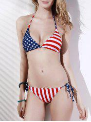 American Flag String Patriotic Swimwear -