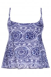 Stylish Spaghetti Strap Tribal Print Women's Tank Top - COLORMIX