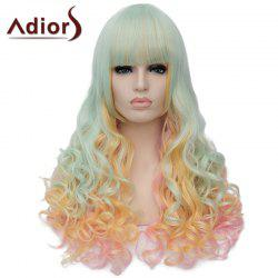 Fluffy Adiors Full Bang Heat Resistant Synthetic Long Wig For Women