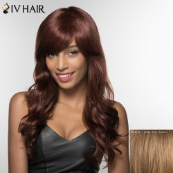 Trendy Siv Hair Side Bang Long Curly Human Hair Women's Wig -