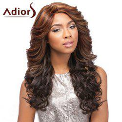 Two-Tone Ombre Long Side Bang Capless Shaggy Curly Synthetic Adiors Wig For Women