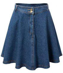 Endearing High Waist Denim Skirt For Women -