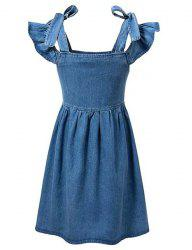 Cold Shoulder Casual Denim Dress