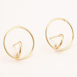 Chic Hollow Alloy Circle Ring Stud Earrings For Women