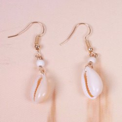 Pair of Shell Shape Dangle Earrings