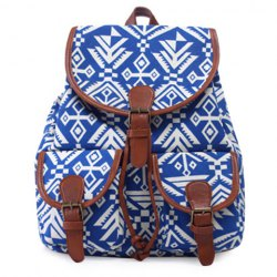 Casual Geometric Print and Buckle Design Satchel For Women -