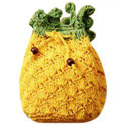 Cute Pineapple Shape and String Design Crossbody Bag For Women - YELLOW