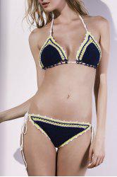 Stylish Crocheted Women's String Bikini Set