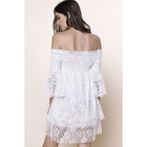 Off The Shoulder Lace Trim Short Dress -