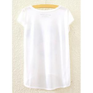 Chic Scoop Neck Lily and Bird Print High Low Short Sleeve T-Shirt For Women -
