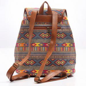 Ethnic Style Geometric Print and Buckle Design Satchel For Women -