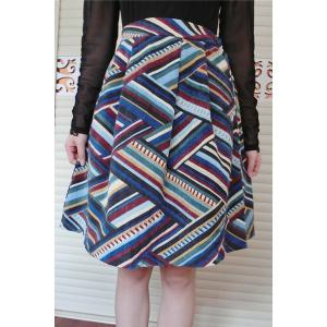 Retro High Waisted Zigzag Corduroy Skirt