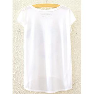 Leisure Style Round Neck Short Sleeve Owl Print High-Low Hem T-Shirt For Women -