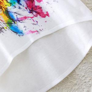 Rainbow Unicorn Print High-Low T-Shirt -