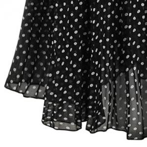 Short Sleeve T-Shirt + Polka Dot Suspender Skirt -