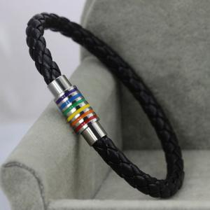 Vintage Colored Faux Leather Rope Bracelet -