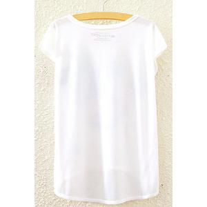 Stylish Round Neck Short Sleeve Castle William Print High-Low Hem T-Shirt For Women -