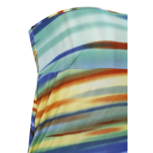 Colorful Stripes Multiway Maxi Skirt - COLORMIX S