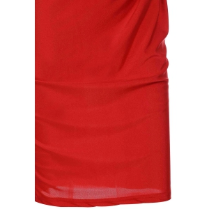 Sexy Sleeveless Solid Color Cut Out Convertible Bodycon Women's Dress -