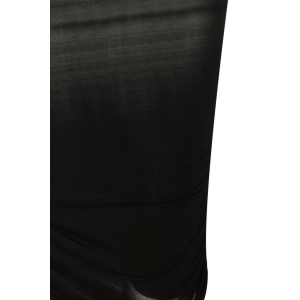 Sexy One ShoulderCocktail Long Sleeve Black Dress - BLACK ONE SIZE