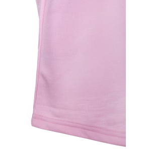 Fashionable Round Neck Short Sleeve T-Shirt For Women - PINK S