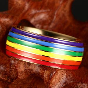 Vintage Titanium Steel Rainbow Color Ring