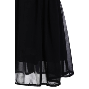 Sexy Style Spaghetti Strap Sleeveless Sequins Embellished Loose Dress For Women - BLACK S
