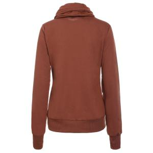Layered Collar Pullover Drawstring Sweatshirt -