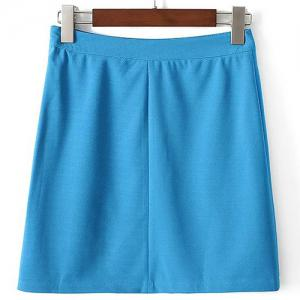Cute A Line Side Slit High-Waisted Women's Skirt -