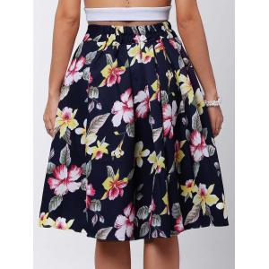 Box Pleated Midi A Line Skirt -