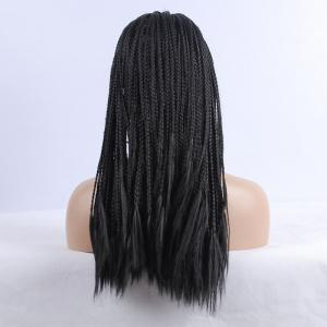 Twist Braided Long Synthetic Women's Lace Front Wig -