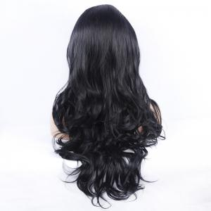 Curly Long Synthetic Women's Lace Front Wig -