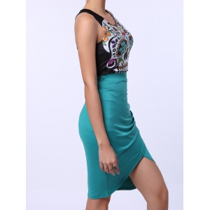 Ruched Crossover Pencil Skirt -