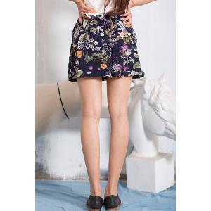 Ruffled Floral Shorts -